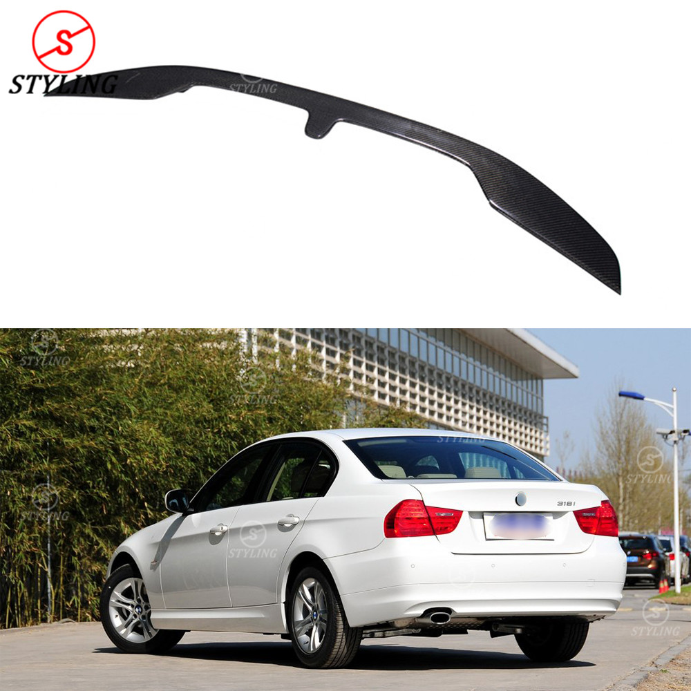 For BMW F30 F80 M3 Carbon Spoiler Sedan 3 series F30 & M series F80 M3 Carbon Fiber rear spoiler Rear Bumper trunk wing 2012-UP тонкий силиконовый чехол brosco силиконовый для sony xperia xzs