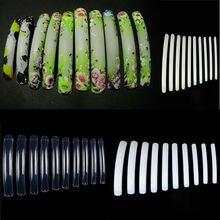 50 шт Круглые супер длинные салонные накладные ногти для 3D акриловых УФ гель для ногтей 3 цвета на выбор Длина: 6,7 см-9 см