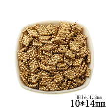 300pcs/lot Spray Gold Beads Rhombus Acrylic Plastic Bead for Women and Men Jewerly Making Decoration Accessories