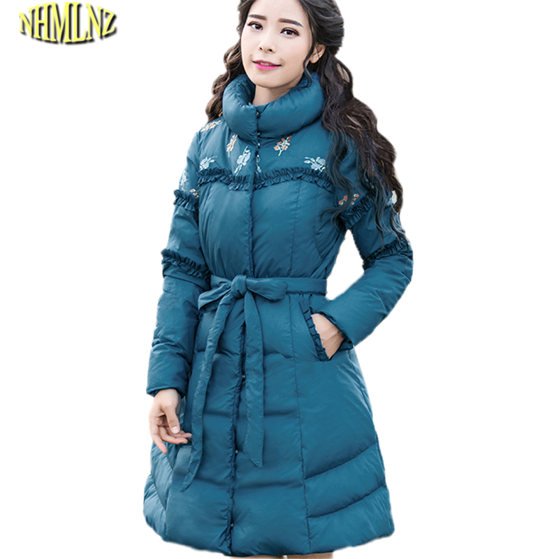 Casual New Winter Women Jacket Temperament Stand collar printing Cotton coat Plus size Fashion Slim Warm Female Outerwear WK309 конструкторы bauer стройка 50 элементов
