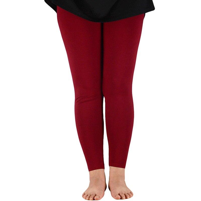 Casual Women Slim Leggings Bamboo Fiber Leggings Full Length Elastic Leggings Ladies Stretch Work Out Plus Size Legging Pants