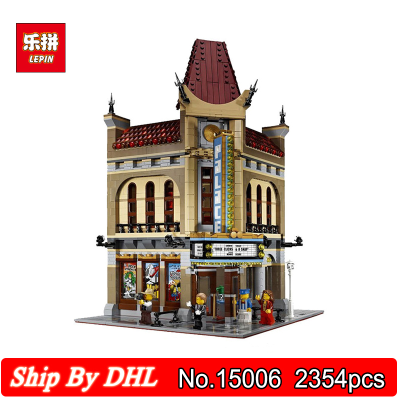 DHL Shipping Lepin 10056 Palace Cinema Building 2354pcs Blocks Bricks Children Toy Compatible Legoingly 10232