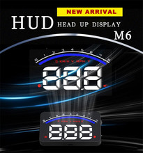 2017 Portable Unversal Car Head Up Display Adjustable LED Brightness Head Up Display For Cars With OBD2 & EUOBD Port Free Ship