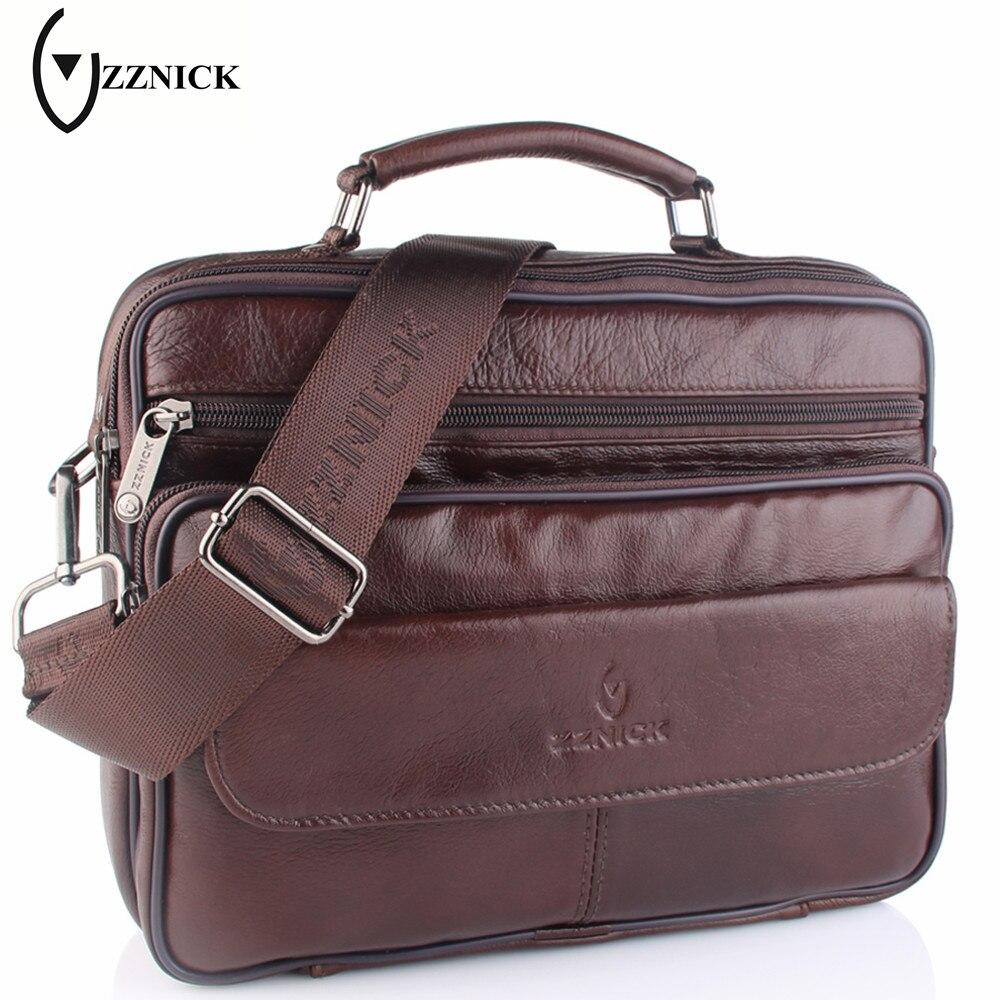 ZZNICK 2017 New Genuine Leather Bag Men Messenger Bags Casual Multifunction Shoulder Crossbody Bags Handbags iPad Holder Men Bag цены онлайн