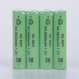 OOLAPR Free Shipping 10XAA battery New Original 3800mAh 1.2V NiMH Rechargeable Battery Free shipping