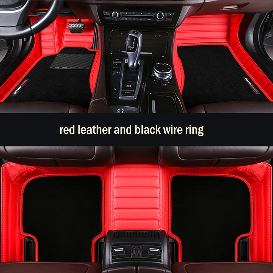 HLFNTF custom Double car floor mat for hyundai tucson ix35 elantra terracan accent azera wire Mats