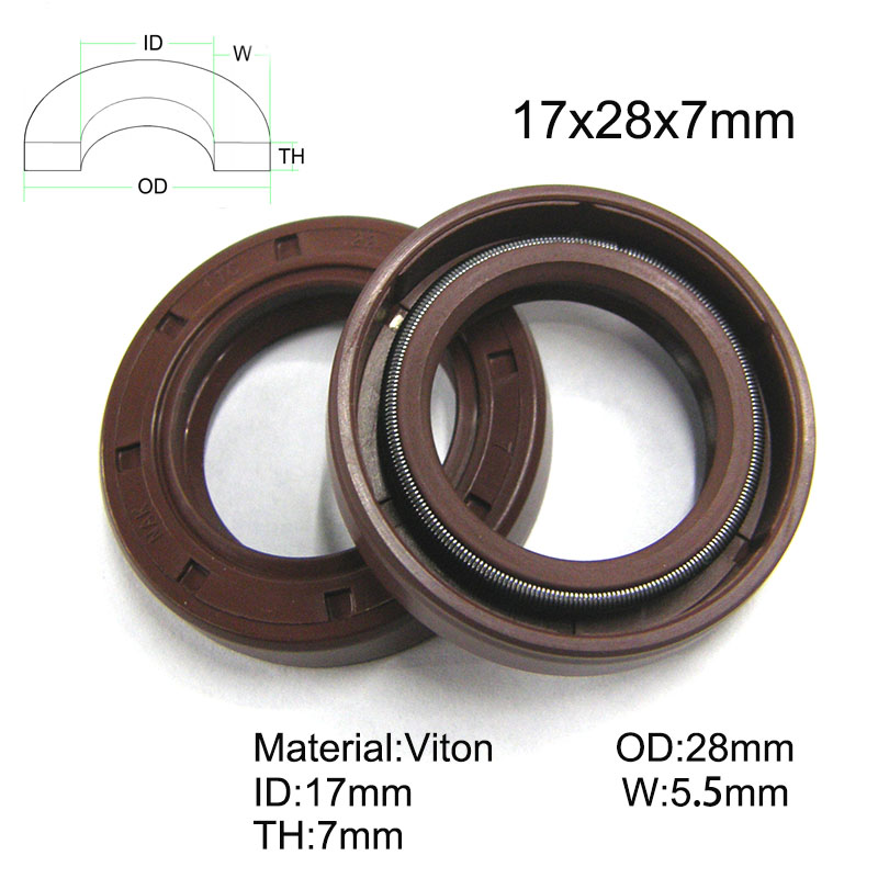height, model Rotary shaft oil seal 12 x 28 x pack