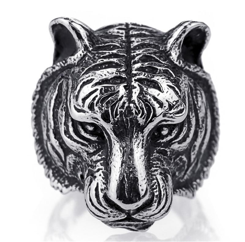 Властная 3D золото/черный голова тигра Уникальный животных кольцо для человека Байкер панк Jewelry интимные аксессуары бойфренд подарок