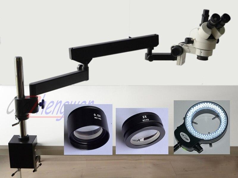 FYSCOPE offre spéciale 3.5X-90X bras articulé ZOOM MICROSCOPE stéréo SZM0.5X & SZM2.0X