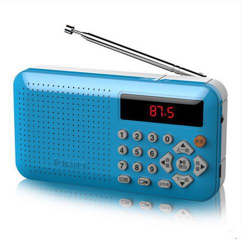 El envío libre Al Por Mayor Especial NUEVA F-1 Claus mini Altavoces estéreo de Radio FM MP3 Walkman Reproductor de Música portátil 1 UNIDS a rusia