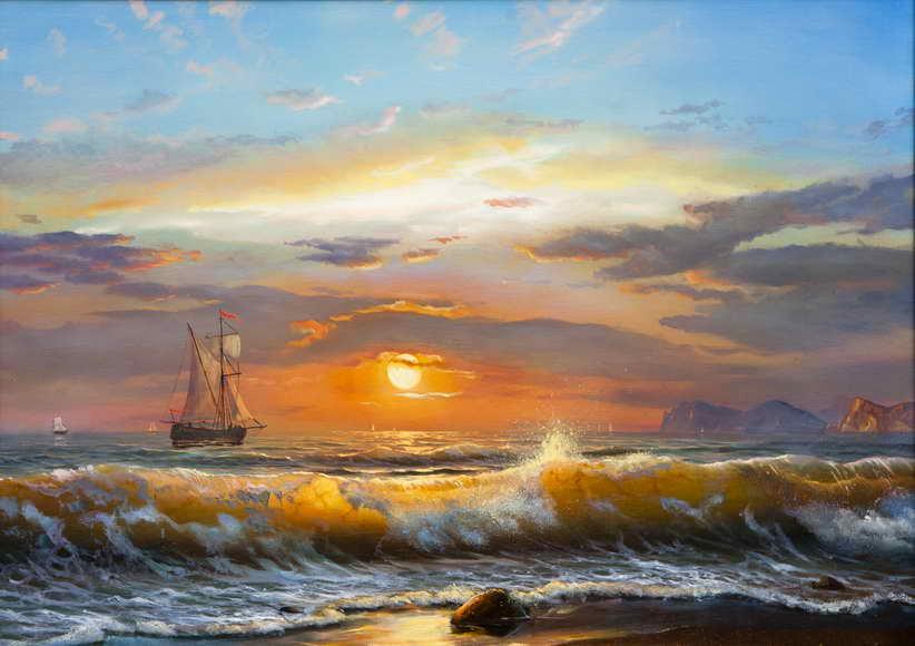 Как нарисовать море  Рисунок моря поэтапно карандашом