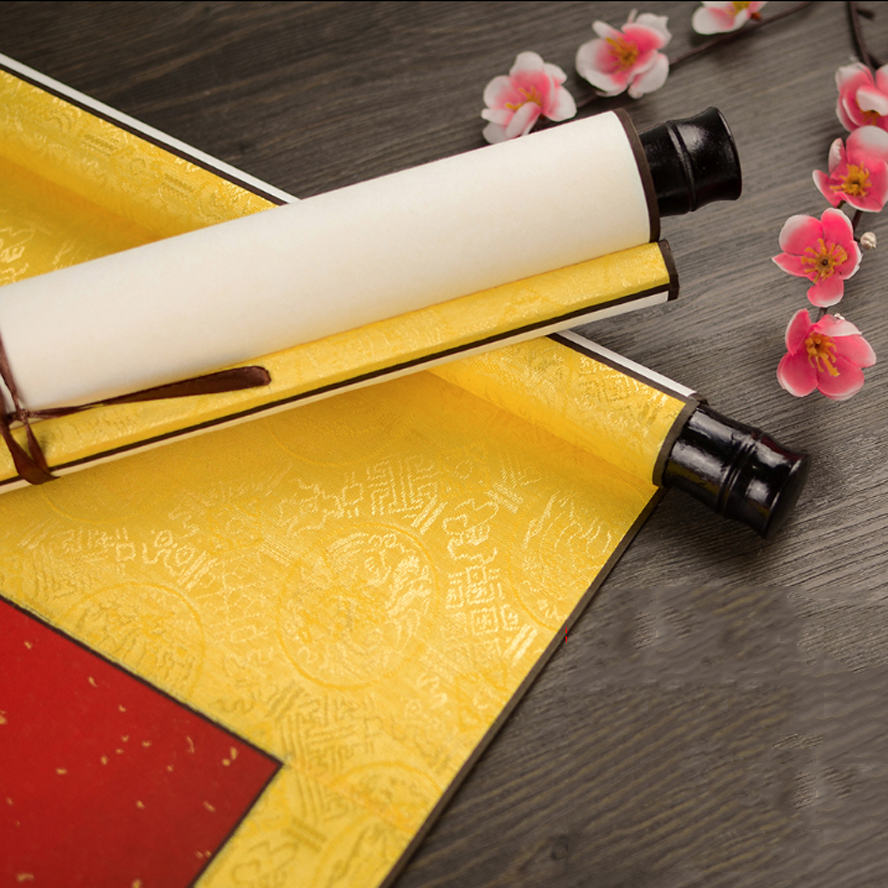 Chinese Rice Paper Scroll Blank Calligraphy And Painting Mounted Xuan Paper Art Set Painting Supplies