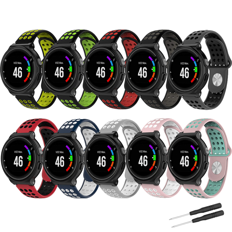 Silicone Band Strap For Garmin Forerunner 235 220 230 620 630 735XT GPS Running Smart Watch Colorful Soft Sport wrist watch band