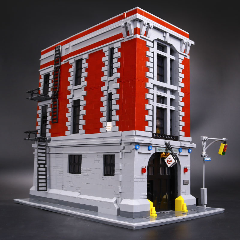 LEPIN 16001 4695Pcs Ghostbusters Firehouse Headquarters Model Building Kits Model set brin quedos legoINGlys 75827 for Gift цены