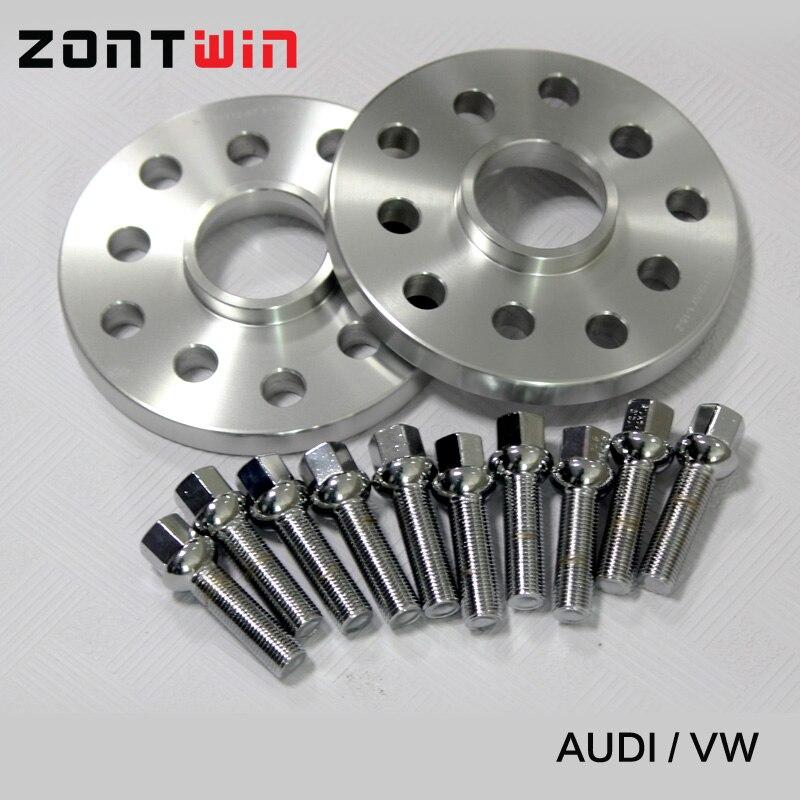 2 pièces 12mm Entretoises De Roue costume pour Voiture Audi Kit 5x100/5x112 CB: 57.1 A1/A2/A3/A4 (B5, B6, B7)/A6 (C4, c5, C6)/A8 (4E)/TT/ALLROAD/Quattro