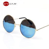 UVLAIK Classic Round Sunglasses Men Women Small Vintage Retro Glasses Women Driving Metal Eyewear Sun Glasses Men Womens UV400