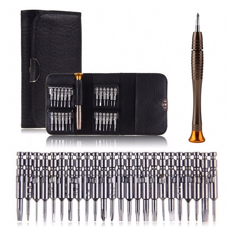 New 25 in 1 Universal Torx Screwdriver Repair Tool Set Repairing Opening Tools Kit For Cellphone Tablet --M25 workpro 18 in 1 magnetic screwdriver tool set hand tool kit with rack workshop master