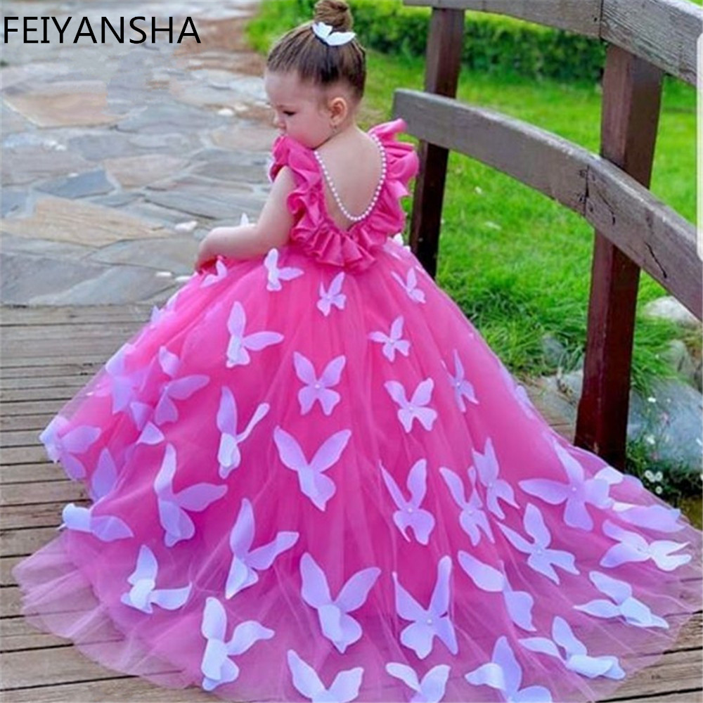 Flower     Girl     Dresses   2019 Luxury Kids Evening Pageant Ball Gowns First Communion   Dresses   For   Girls   Vestidos daminha