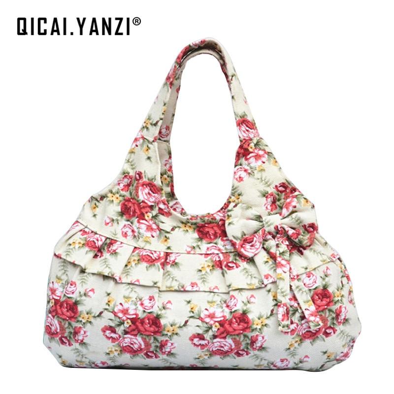 2017 New Design Floral Flower Leopard Print Women Canvas bags Women Lady Casual Handbag Shoulder Bag High Quality N762
