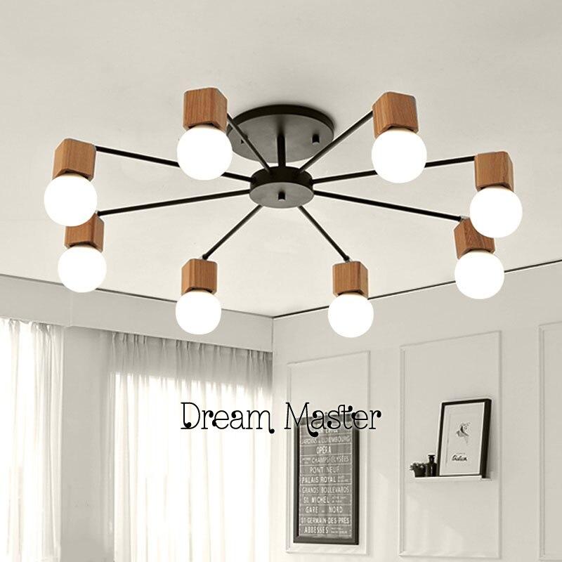 AC100-240V wood LED ceiling lights living room bedroom children's room ceiling lamp modern free shipping набор торцевых головок jonnesway 3 8dr 6 22 мм и комбинированных ключей 7 17 мм 36 предметов