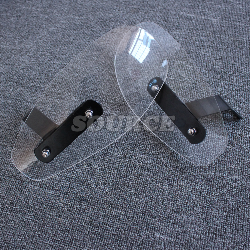 motorcycle accessories wind shield handle hand guard ABS transparent handguards FOR YAMAHA YZF R1 R6 R3 R25 Tmax 500 530 MT07 MT 4pcs set smoke sun rain visor vent window deflector shield guard shade for hyundai tucson 2016