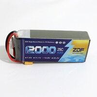 ZDF Good Quality Lipo Battery 14.8V 4S 12000MAH 25C 50C RC AKKU Bateria for Airplane Helicopter Boat FPV Drone UAV