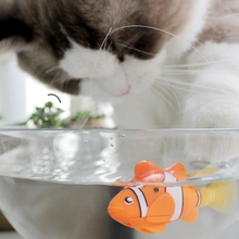 [Магазин MPK], рыба на батарейках, игрушка кошка рыба