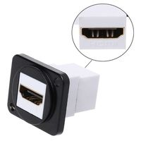 D Type Metal HDMI Connector Module Socket Female to Female Wall Panel Mount Industrial Accessories