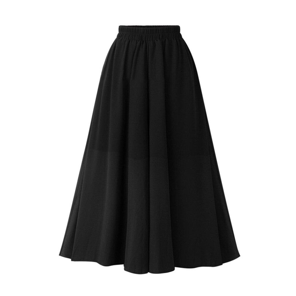 KLV 2019 New Summer Women's Fashion Double-layer Skirt Street Long Elastic Waist Skirt Free Shipping D4