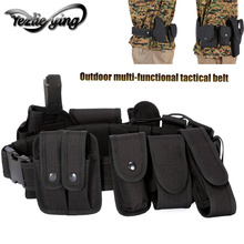 Ten Sets of Multi-Functional Tactical Patrol Duty Belt Holster Outdoor Multi-purpose CS Canvas Load Oxford Wear Gun Bag