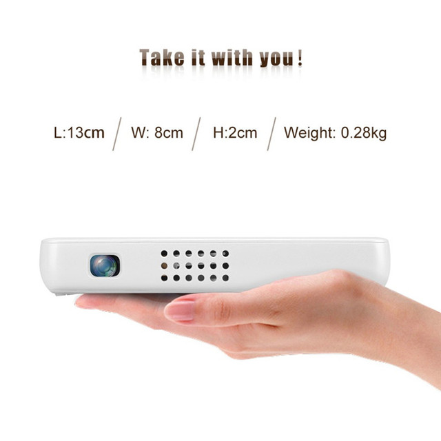 Exquizon GP1S Mini Pocket DLP Projector AV IN/SD/USB/VGA/HDMI Home Theater 800*480 Resolution 500 Lumen Proyector