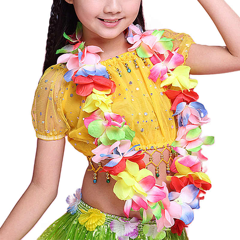 Christmas In Hawaii Party.Fashion 1pc Hot Hawaii Christmas Wreath Diy Party Garland Floral Hoop Necklace Fancy Dress Ball Beach Decorations