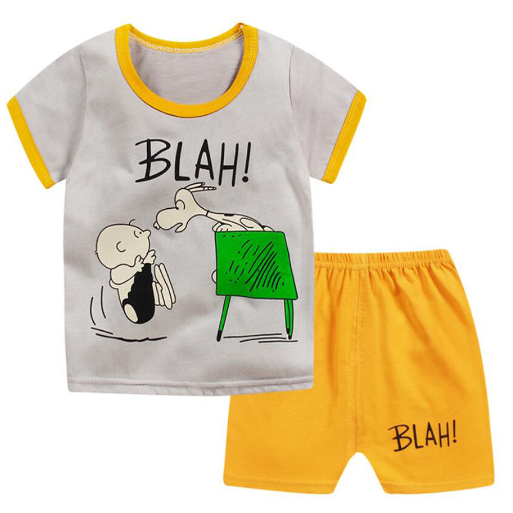 T-shirt Short Children's Suits Clothing Set For Boys Costume Kits Kids Summer Clothes Set Dress For Baby Boys Kids 1 2 3 Years