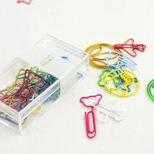 20 шт/кор креативный цветной зажим для бумаги металлические