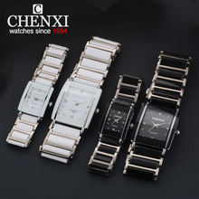 Купить с кэшбэком CHENXI NEW Fashion Women Watch Men Top Brand Luxury Wristwatch Man Female Quartz Wrist Watch Ceramic waterproof Watch PENGNATATE