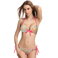 4bf3afb9478a6 Womens Bikinis set 2018 New swimwears leopard red print women victoria  style swimsuit bikini push up bathing suit