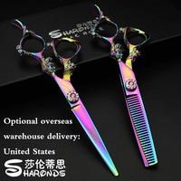 6 inch hairdresser professional scissors barber shop scissors Sharonds cutting thinning scissors overseas warehouse