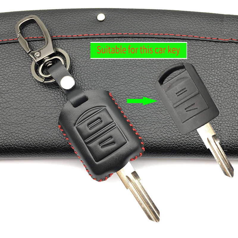 2 Buttons Hot Sale Genuine Leather Car Key Case Cover for Opel Astra H J g Zafira Vectra ...