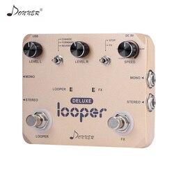 Donner Looper Pedaal Gitaar Effect Pedaal Deluxe Twin Loop Pedalen 10 Minuten Looping Tijd Onbeperkt Overdubs Gitaar Accessoires