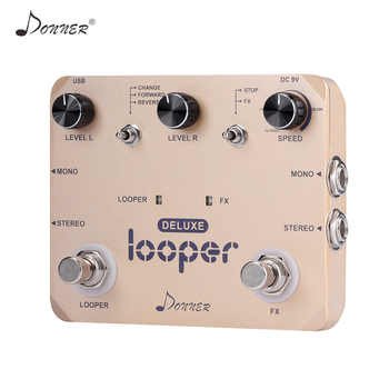Donner Looper Pedal Guitar Effect Pedal Deluxe Twin Loop Pedals 10 Minutes Looping Time Unlimited Overdubs Guitar Accessories - DISCOUNT ITEM  29% OFF All Category