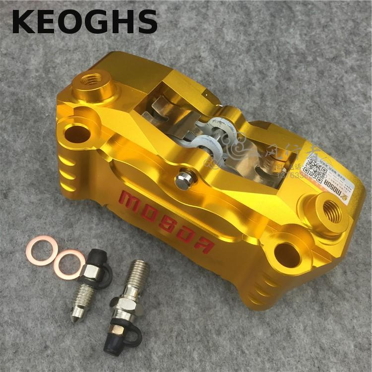 Keoghs Mosda Motorcycle Brake Caliper 100mm Mount Cnc Aluminum Alloy Hf2 For Honda Yamaha Kawasaki Suzuki Modify keoghs motorcycle hydraulic brake system 4 piston 100mm hf2 brake caliper 260mm brake disc for yamaha scooter cygnus x modify