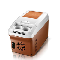 12L Mini Fridge for Car Auto Portable Refrigerator Freezer Small Icebox Insulin Refrigeration Cooler Heater Household Clamshell