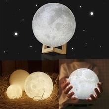 3D печати светодиодный Ночной светильник 20 см, 18 см, 15 см сенсорный переключатель USB DC5V светодиодный Moon лампа украшение дома креативный подарок
