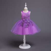 Kids Bridesmaid Girls Dress For Wedding and Party Princess Dresses Evening Christmas Ball Gown Children Clothes