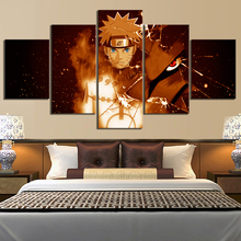 5 Piece Animation Art Cartoon Pictures Naruto Anime Poster Uzumaki Canvas Paintings Wall for Home Decor