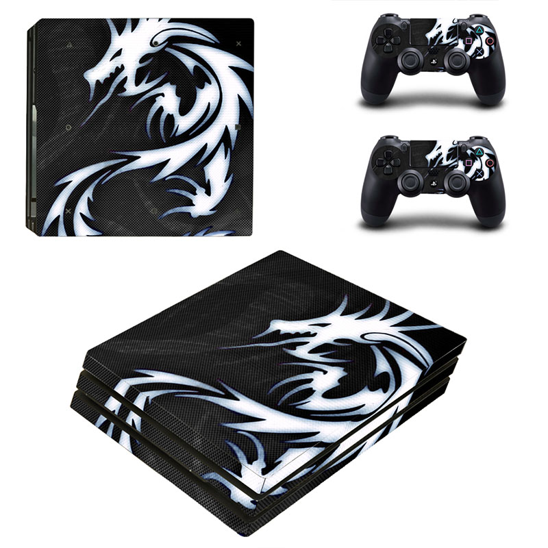HOMEREALLY PS4 Pro Skin Dragon Triba Design Vinly HD Sticker For Playstation 4 Pro Console and Controller Skin PS4 Pro Accessory