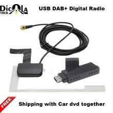USB 2,0 цифровой DAB радио с DAB антенна вместе подходит для android 4,2 выше устройства ваш город нужно иметь DAB сигнал