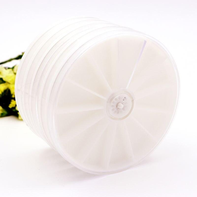 1 Pcs Umwelt Kunststoff Runde Weiß Schmuck Perlen Behälter Platte Display Halter Lagerung Handgemachte Diy Zubehör