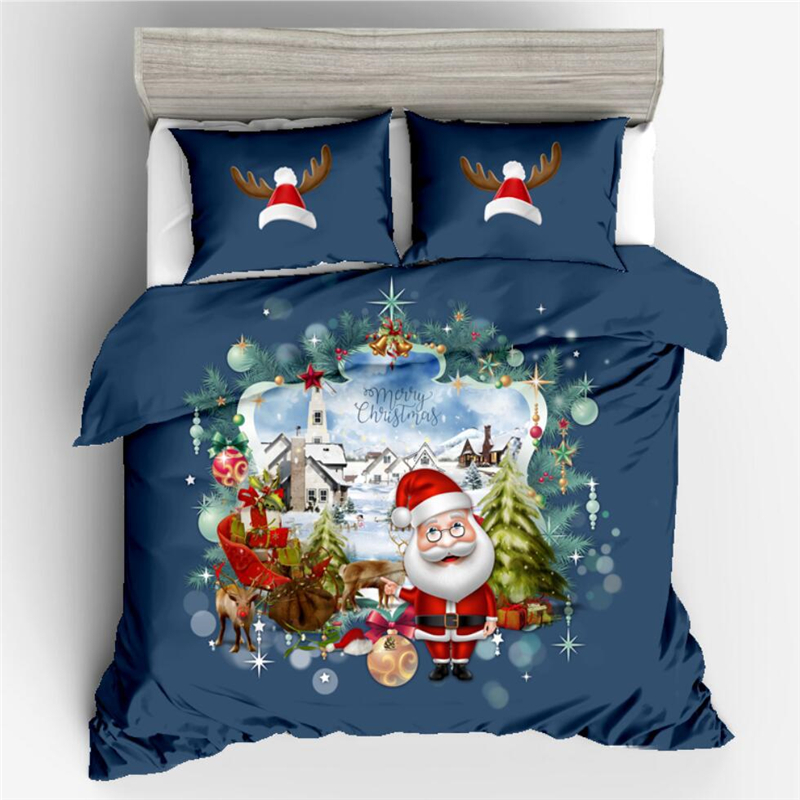 HD Digital Printed Christmas Halloween Skull 2PC 3PC Duvet Cover Set Bed Linens UK Single Double US Queen King Size Bedding Sets in Bedding Sets from Home Garden