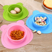 Baby Silicone Plate Solid Feeding Bowls Dining Plates Suction Children Tableware Food Containers Anti-Slip Kids Dishes Eating(China)